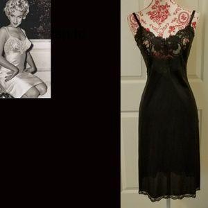 Vintage Black Lacy Slip